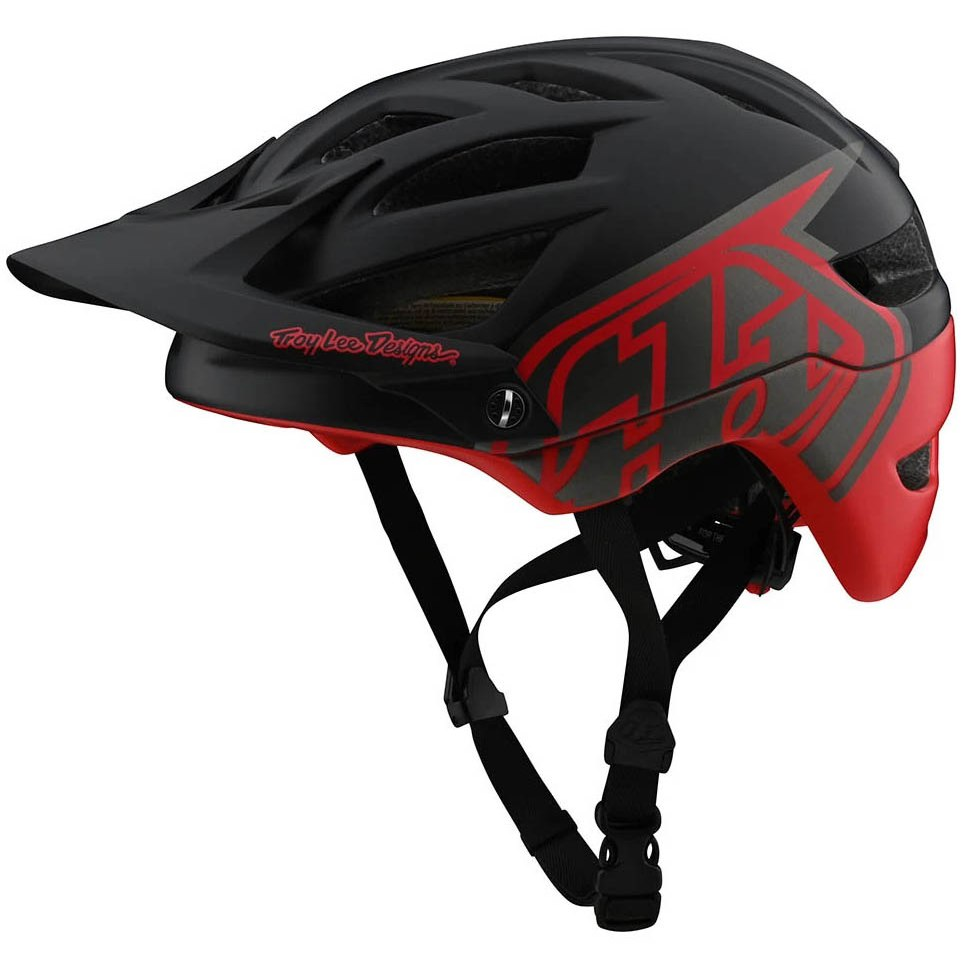 TROY LEE DESIGNS A1 MIPS HELM, CLASSIC, BLACK/RED